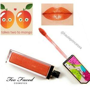 👯Too Faced Takes Two to Mango lip glaze